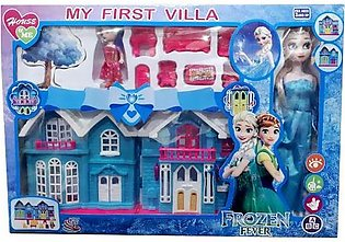 Beautiful Frozen Doll House with Frozen Doll