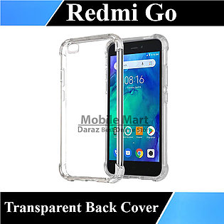 Xiaomi Redmi Go Back Cover Transparent Extra Bumper Soft Crystal Clear Case F...