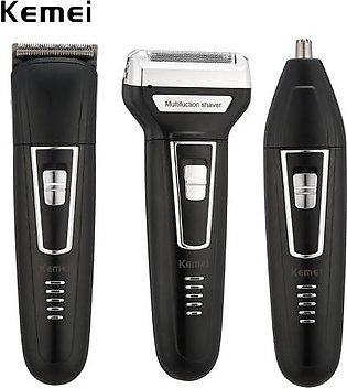 Kemei KM-6330 Professional 3 in 1 Shaver Trimmer Nose Trimmer For Men KM 6330...
