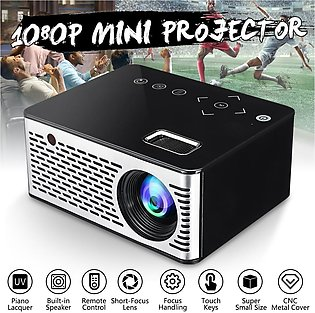 LED Mini Micro Projector T200 Portable Video AV HD USB HDMI USB Home Theater ...