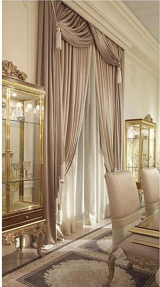 .  Fancy Cotton Satin Curtain For Home/Office 01