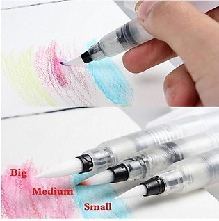 Set of 3 Water Brush Pen Marker Ink Water Colors Best Quality