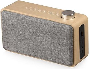 Portable Wooden Bluetooth Speakers Portable Wireless Speakers Fm Radio Speakers Yellow Wood Grain