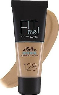Maybelline Fit Me Matte + Poreless Foundation Normal To Oily 30 ml - 128 Warm Nude