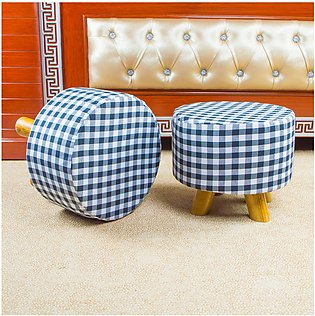 Pack Of 2 Wood Stool, Foot Rest, Living Room Furniture, Kitchen Stool,Ottoman, …