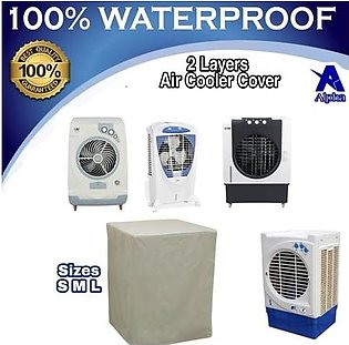 2 Layers Air Cooler Cover - 100% Water Dust Proof Scratchless VIP Quality - Room Cooler - Omega Signature Bravo Kenwood Super Asia Pak Fan Sabro Indus Boss Midas Italy Z&M Zen hacwel Topsky Diamond Sogo Rechargeable E lite brio ditron