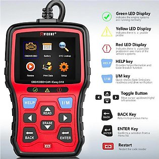 Vident iEasy310 Enhanced OBDII/EOBD+CAN Code Reader with Battery Test Function
