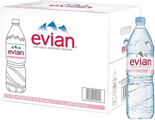 PACK OF 12 : EVIAN MINERAL WATER 1.5LTR IMPORTED