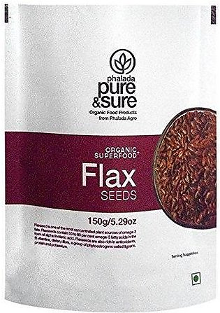 Organic Flax Seeds 150g PACK OF 3