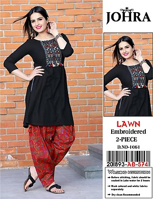Style Loft Collection Un-Stitched 2 Piece Embroidery Lawn Suit For Women