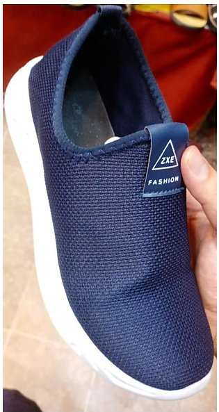 Fashion Canvas Low-top Design Casual Shoes Loafers For Men in Blue