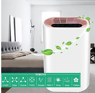3-Speed Timing Adjustable Auto Home Air Purifier Negative-ion HEPA Fir Dust