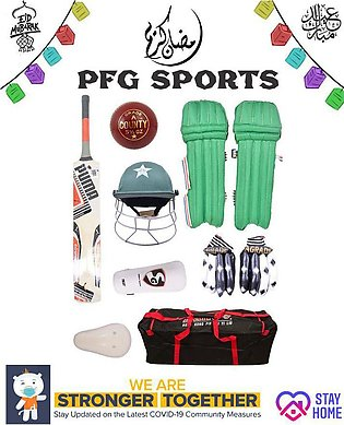 Pack of 8 - Complete Cricket Kit For 9-14 Year Kids