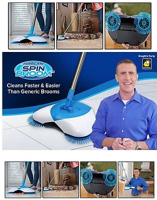 Spin Broom for Easy Cleaning Wireless Spinning Broomfor Sweeping Hard Surfaces …