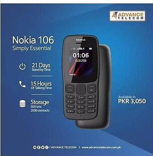 Nokia 106 (2018) With 1 Year (ADVANCE TELECOM WARRENTY)