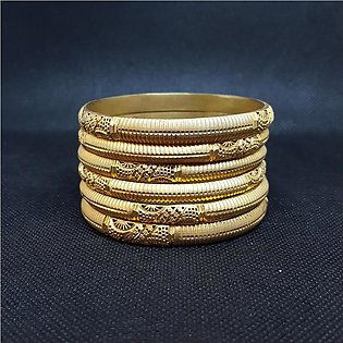 Azeem Jewellers Casual Gold plated Bangles for Women 54-O