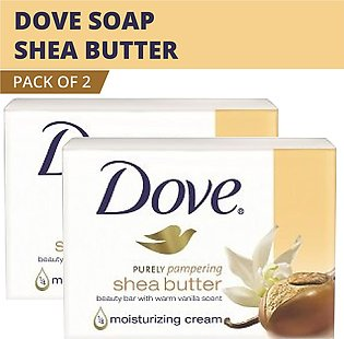 Dove Soap Purely Pampering Shea Beauty Bar with Vanilla Scent- (2 pack)  Made...