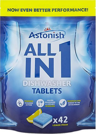 Astonish C2170 All in 1 Dishwasher Tablets, 42 Tablets pack