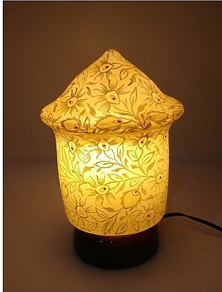 Hand Painted Camel Skin Lamp - Minar Shaped - Night Lamp