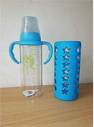 Baby Glass Feeder Bottle With Handles