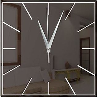 GZ074 Square Acrylic Mirror Geometric Wall Clock Living Room Wall Clock