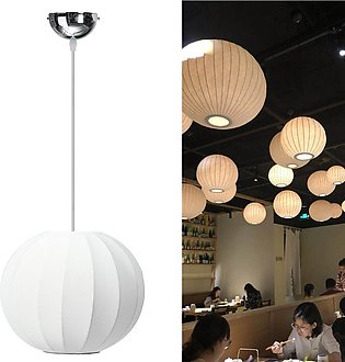 【To Global】Modern Lantern Cloth Pendant Light Ceiling Lamp Shade Coffee Living …