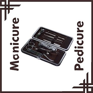 Manicure Pedicure and Grooming Kit Stainless Steel 10 In 1 Makeup Nail and Ac...
