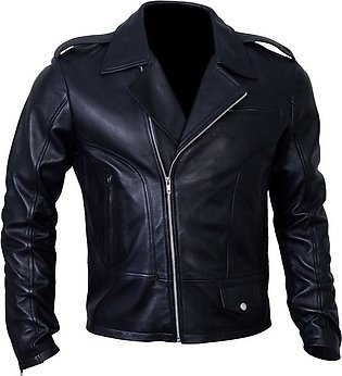 DE - MARCA Markhor Lambskin Black Leather Jacket for Men YKK Zippers Both Cuf...