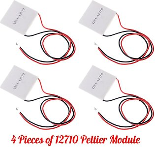 Pack of 4 TEC1 - 12710 Peltier Modules For Heating And Cooling Purpose