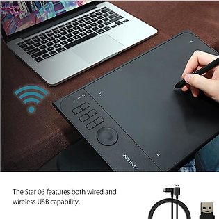 Star06 Wireless 2.4G Graphics Drawing Tablet/ Painting Board with 8192