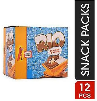 Rio Chocolate Vanila Snack Pack (Pack Of 12)