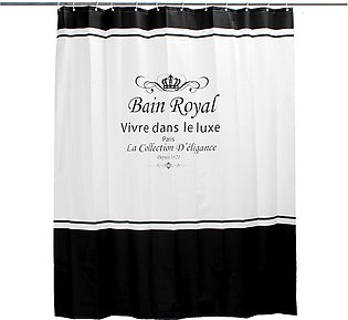 6x7ft Polyester Waterproof Royal Crown Home Bathroom Shower Curtain + 12 Hooks