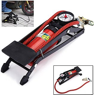 High Pressure Foot Pump for Car Tire Inflator Pump Foldable style Foot for Moto…
