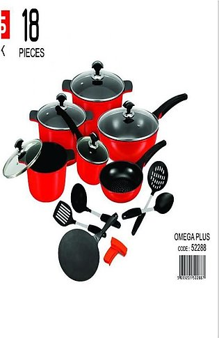 Omega Plus Gift Pack - 18 Pieces Set - Non Stick