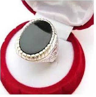 Black Aqeeq 925 AAA Silver Ring For Men