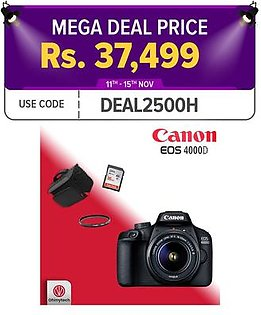 Canon 4000D Camera - Combo Offer