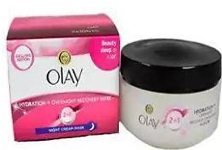 Olay 2 In 1 Hydration + Overnight Recovery Night Cream Mask