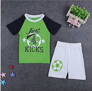 Children'S Summer Child Set Boy Soccer Short Sleeve Shorts Two Set Children'S C…
