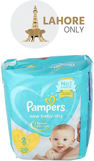 2 Pampers New Born 3-8Kg Mini 20 Diapers