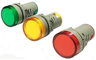 Set Of 3 - Led Electric Indicator Light - Red,Green & Yellow