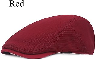 Solid Summer Berets for Men Casual Cotton Caps Men and Women British Style Viso…