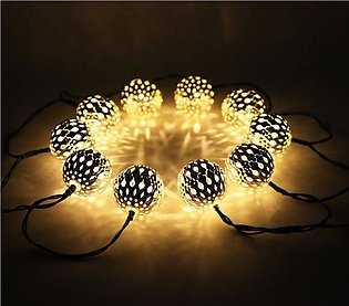 Golden Metallic Balls Fairy Light