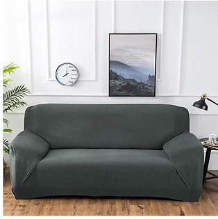 Polar Fleece Thickened Spandex Elastic Stretch Sofa Cover Slipcover Couch Grey Green 4 Seater Pillow Case Chair Cover