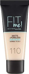 Maybelline Fit Me Matte & Poreless Foundation - 110 Porcelain 30ml