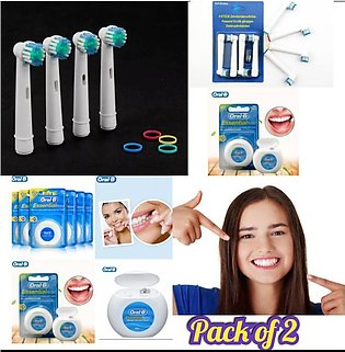 Pack of 2 Four Replacement Tooth Brush Heads Soft universal Electric Toothbrush…