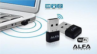 Alfa Wifi USB Adapter LAN Card 300 Mbps 3001 N With Driver CD for PC / Laptop-B…