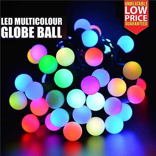Multi Colour LED Automatic Color Changing RGB Globe Ball Candle Fairy Light S...