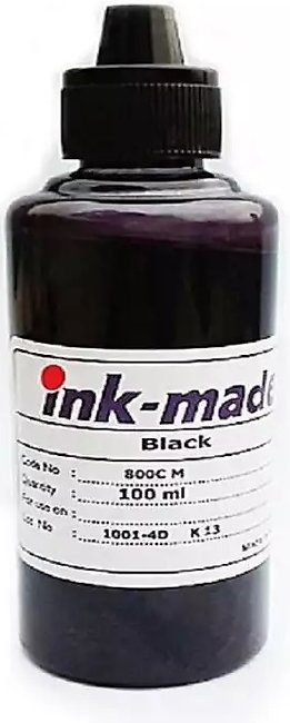 Black INK Refill for HP, Epson, Canon, Brother Printers - 100ML