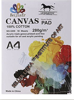 canvas cotton pad A4 suitable for oil and acrylic paint