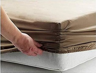 Bed Fitted / Mattress Protector   Brown